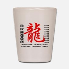 Year of The Dragon Characteristics Shot Glass
