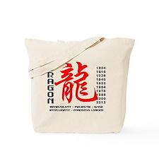 Year of The Dragon Characteristics Tote Bag