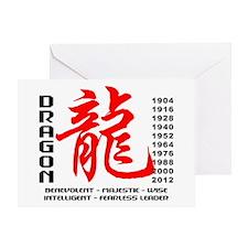 Year of The Dragon Characteristics Greeting Card