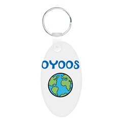 OYOOS Kids World design Aluminum Oval Keychain