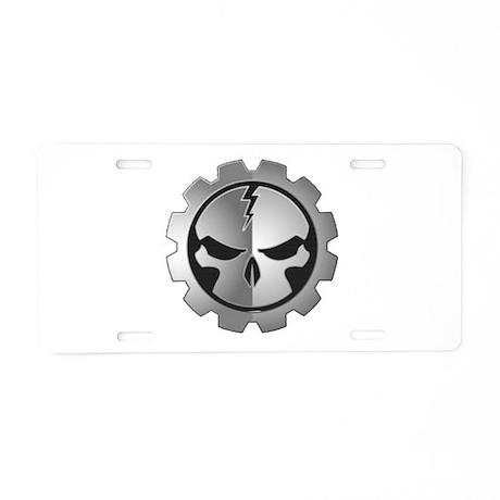 Gear Head Aluminum License Plate