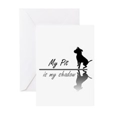My Pit is my shadow Greeting Card