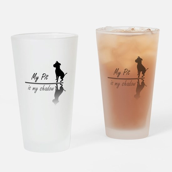 My Pit is my shadow Drinking Glass