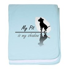 My Pit is my shadow baby blanket