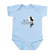 My Pit is my shadow Infant Bodysuit