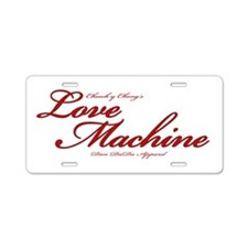 Love Machine Aluminum License Plate