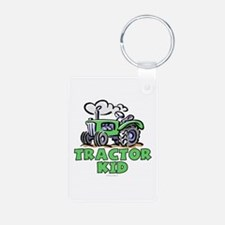 Green Tractor Kid Keychains