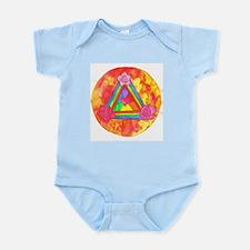 Triple Rose Heart Shield Infant Bodysuit