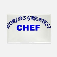 Cute World%27s greatest chef Rectangle Magnet