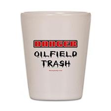 Danger Oilfield Trash Shot Glass