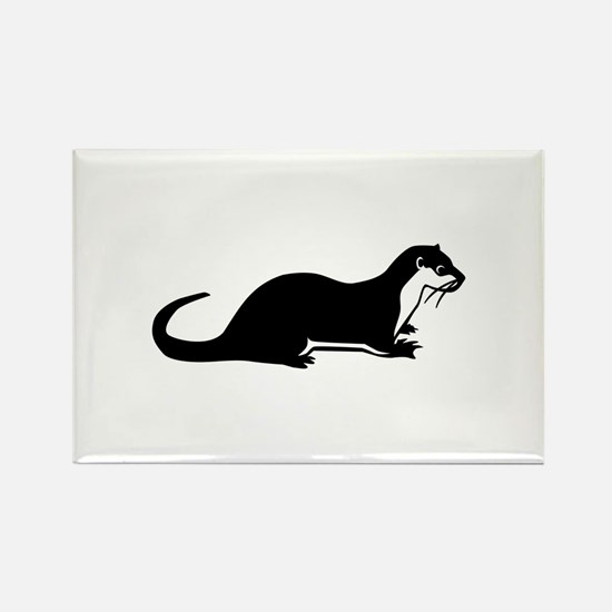 Otter Rectangle Magnet