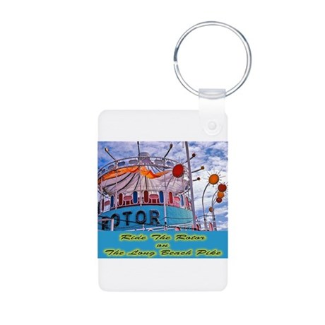 Ride The Rotor Aluminum Photo Keychain