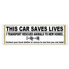 Animal transport sticker (Bumper)