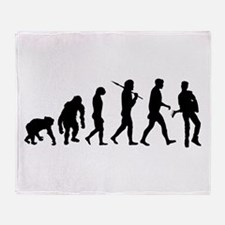 Evolution of Guitarist Throw Blanket