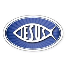 JESUS - Oval Decal