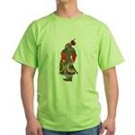 Japanese Samurai Warrior Green T-Shirt