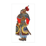 Japanese Samurai Warrior Sticker (Rectangle 10 pk)