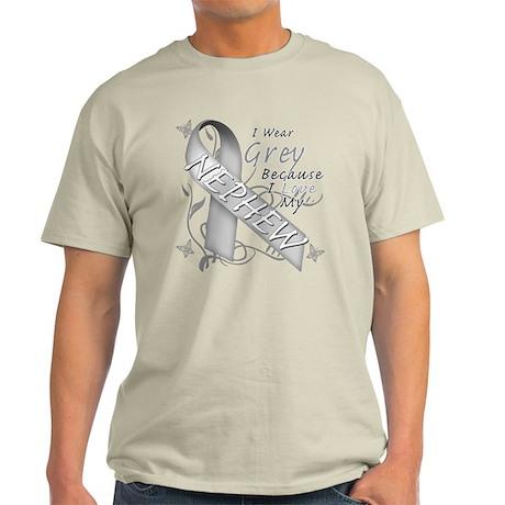 I Wear Grey, I Love My Nephew Light T-Shirt