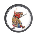 Japanese Samurai Warrior Wall Clock