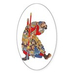 Japanese Samurai Warrior Sticker (Oval 50 pk)