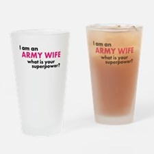 Military wives Social Club Drinking Glass