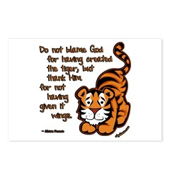 Thank Him Tiger Postcards (Package of 8)