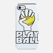 play ball, softball iPhone 7 Tough Case