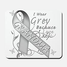 I Wear Grey, I Love My Grandm Mousepad