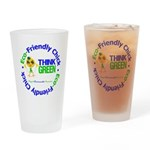 Eco-Chick Go Green Drinking Glass