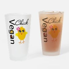 Vegan Chick Drinking Glass