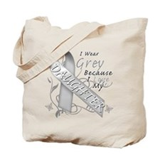 I Wear Grey, I Love My Daught Tote Bag