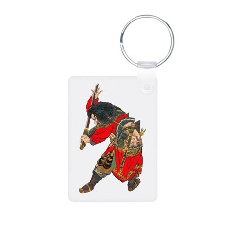 Japanese Samurai Warrior Aluminum Photo Keychain