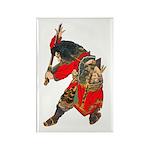 Japanese Samurai Warrior Rectangle Magnet (100 pac