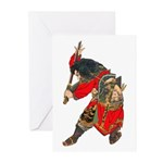 Japanese Samurai Warrior Greeting Cards (Pk of 10)