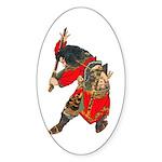 Japanese Samurai Warrior Sticker (Oval 10 pk)