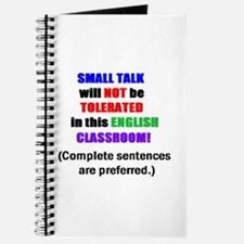 Unique English teacher coffee Journal