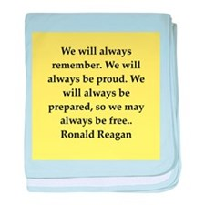 Ronald Reagan quote baby blanket