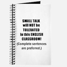 Funny English teacher coffee Journal