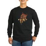 Japanese Samurai Warrior Long Sleeve Dark T-Shirt