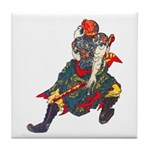 Japanese Samurai Warrior Tile Coaster