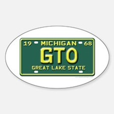 GTO License Plate Oval Decal
