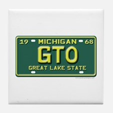 GTO License Plate Tile Coaster
