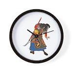 Japanese Samurai Warrior Wall Clock
