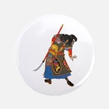 "Japanese Samurai Warrior 3.5"" Button"