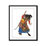Japanese Samurai Warrior Framed Panel Print