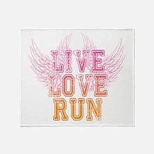 Unique Live love run Throw Blanket