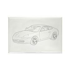 Porsche 911 Rectangle Magnet
