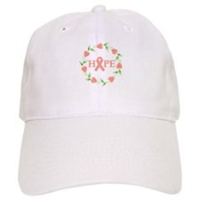 Uterine Cancer Hope Hearts Baseball Cap