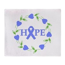 Stomach Cancer Hope Hearts Throw Blanket