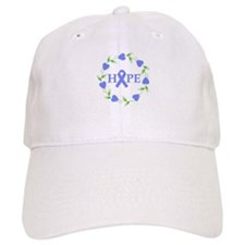 Stomach Cancer Hope Hearts Baseball Cap